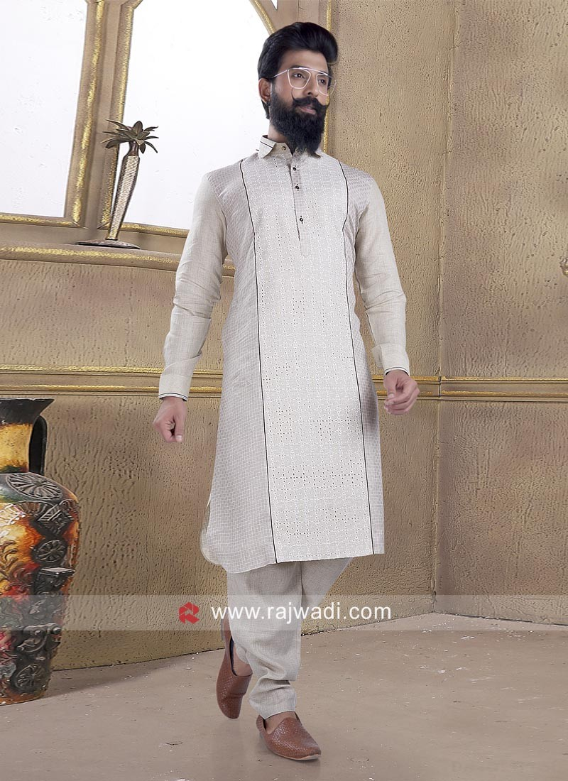 Lovable Beige Pathani Suit