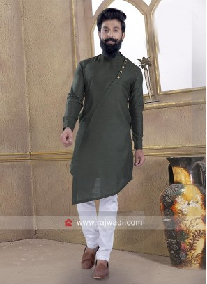 Lovable Bottle Green Pathani Suit