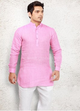 Lovable Pink coloured Pathani Suit