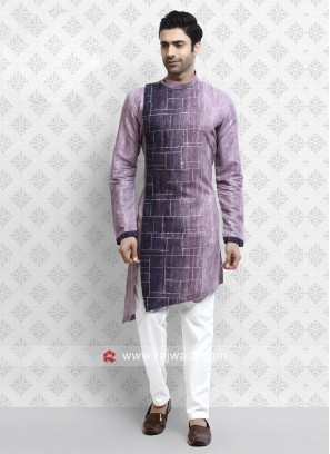 Lovable Purple Color Pathani Suit