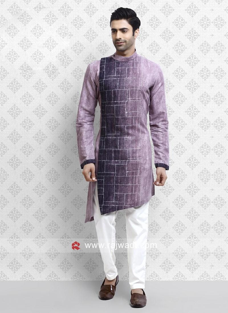 Lovable Purple Color Pathani Suit
