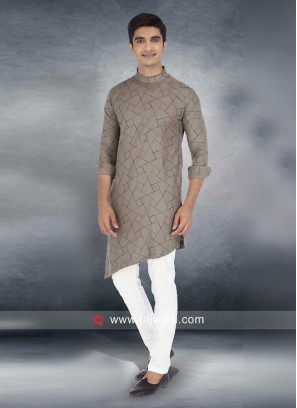 Lovable Tan Color Pathani Suit