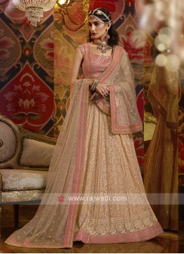 Luchnovi Lehenga Choli In Rose Gold