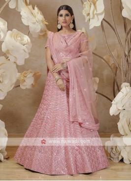 lucknowi lehenga choli in pink