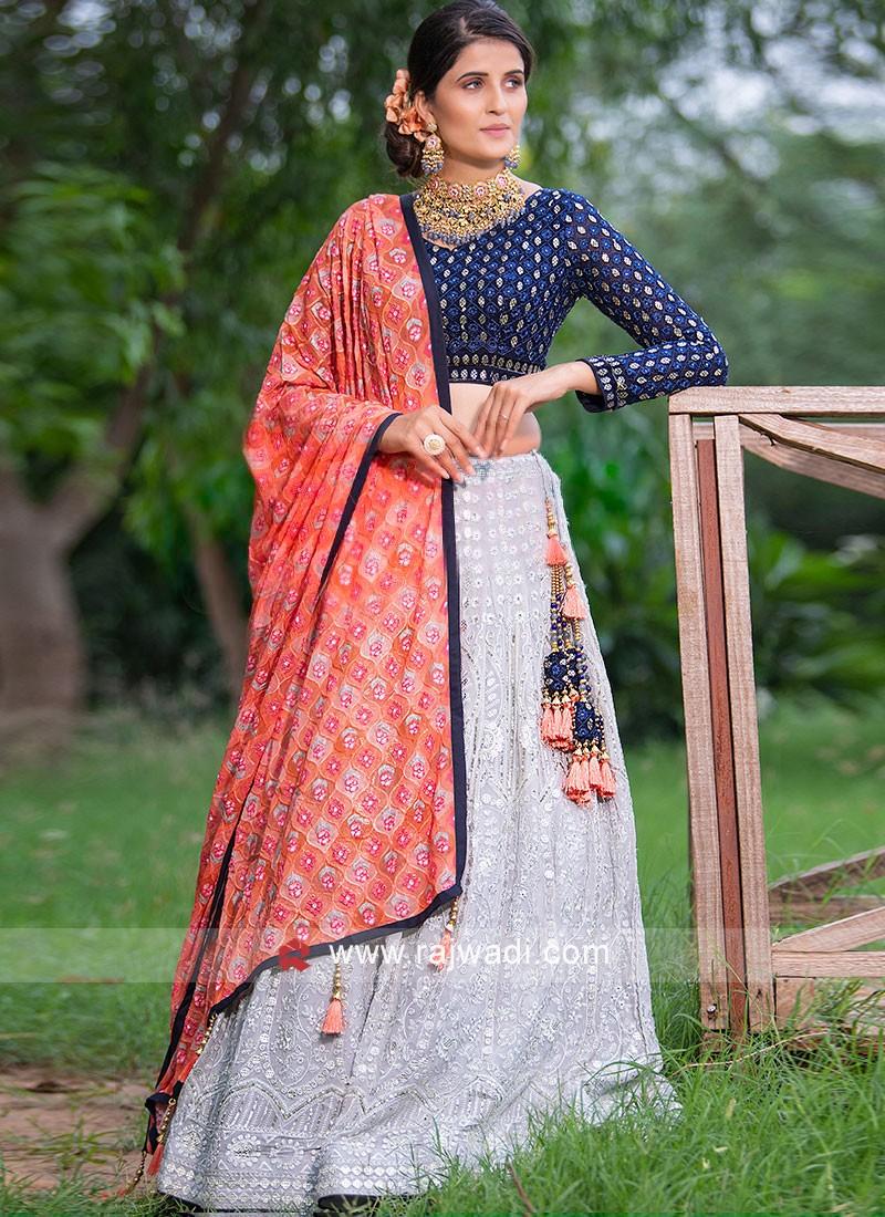 Lucknowi Work Choli Suit