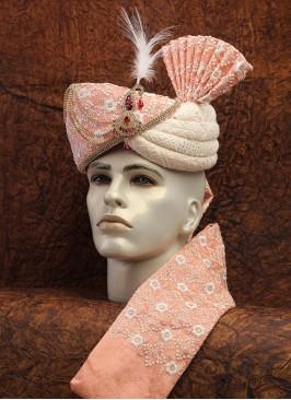 Lucknowi Work Dulha Turban With Fancy Broach