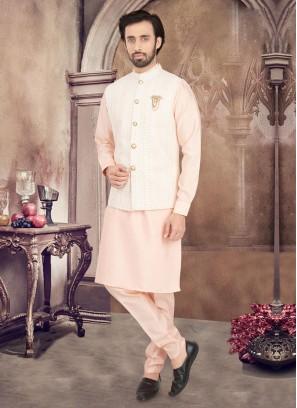 Lucknowi Work Nehru Jacket Set