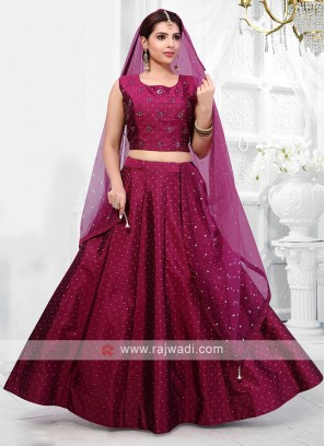 magenta color lehenga choli