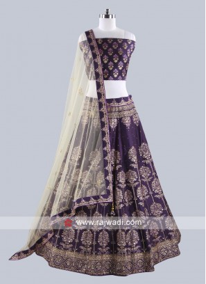 Purple Color Lehenga Set For Wedding