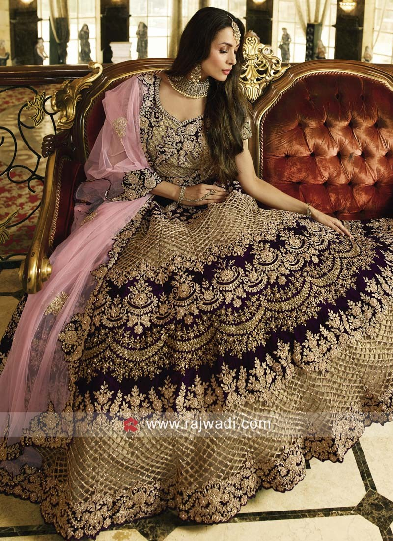 Malaika Arora Khan Heavy Bridal Lehenga Set