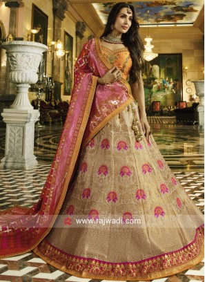 Malaika Arora Khan in Cream Lehenga Choli