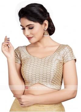 Malbari Silk Ready Blouse In Gold
