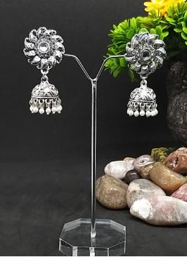 Mango Shape Jhumka Earrings