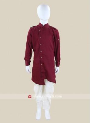 Maroon Boys Pathani Suit