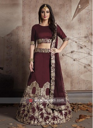 Maroon Bridal Wedding Lehenga