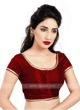 Maroon Brocade Ready Blouse