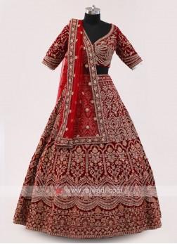 Maroon Choli Suit