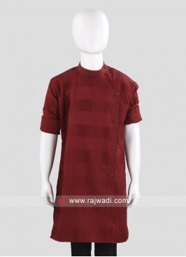 Maroon Color Boys Kurta