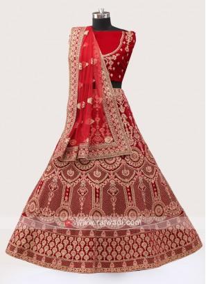 Maroon Color Bridal Lehenga Choli