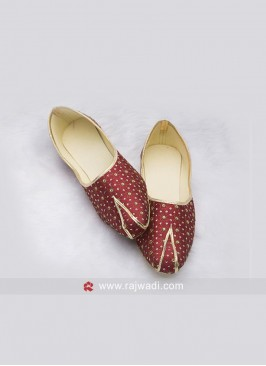 Maroon Color Mojari For Men