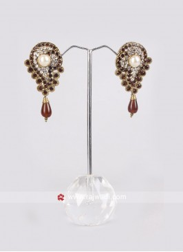 Maroon Party Wear Earrings