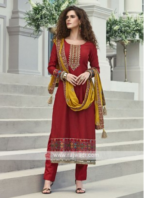 Maroon Designer Salwar Kameez