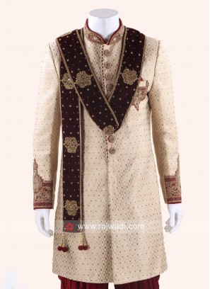 Maroon Dupatta for Wedding