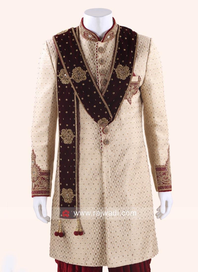 Maroon Dupatta for Wedding