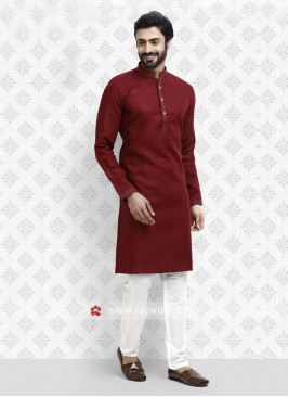 Maroon Kurta Pajama For Wedding
