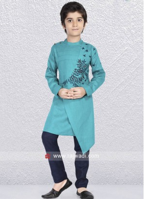 Attractive Teal Color Kurta Set