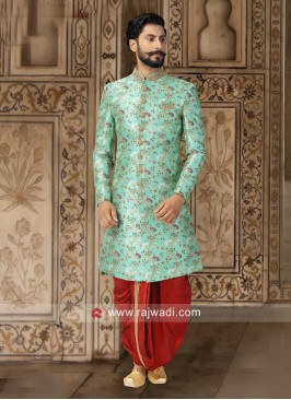 Stylish Sea Green Color Indo Western