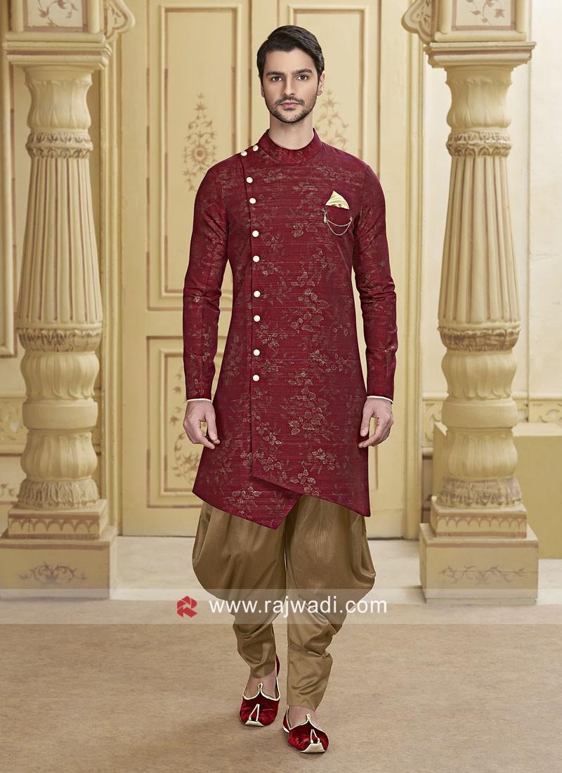 Maroon Patiala Suit For Wedding