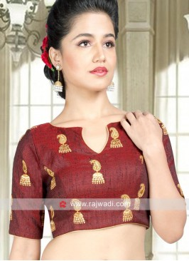Maroon Readymade Blouse