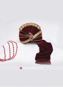 Maroon Safa for Royal Wedding