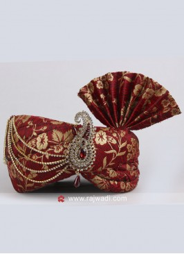 Art Silk Wedding Turban