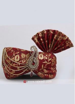 Art Silk Wedding Turban