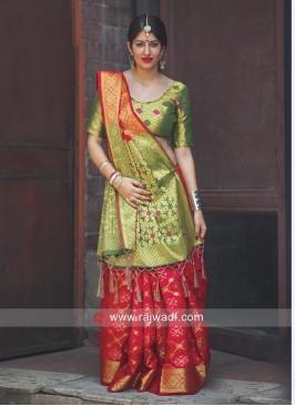 Maroon Wedding Patola Silk Saree