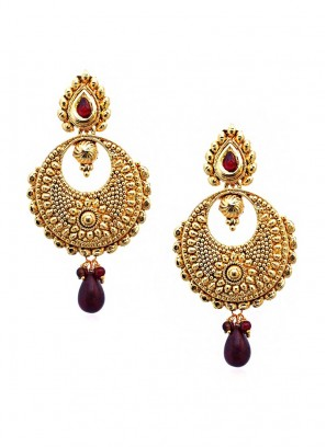 Marsala Dainty Maroon Drop Earrings