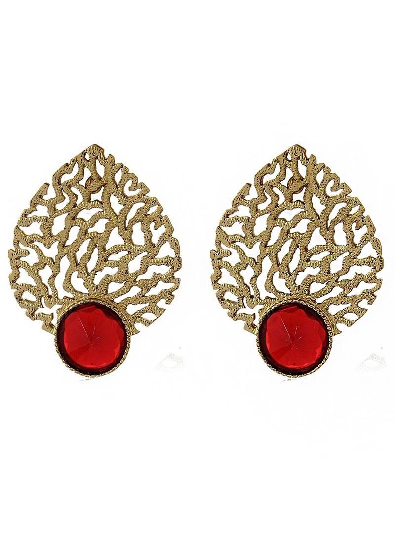 Marsala Drop Filigree Earrings