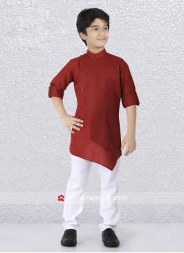 Marvelous Art Silk Fabric Kurta Set