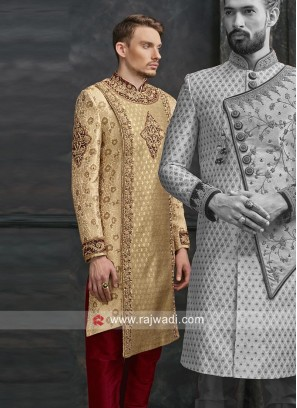 Marvelous Brocade Silk Sherwani