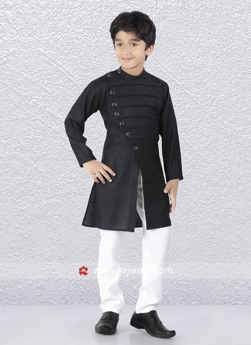 Marvelous Black Color Kurta Set