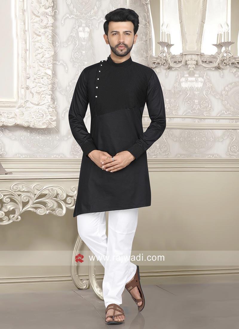 Marvelous Black Pathani Suit