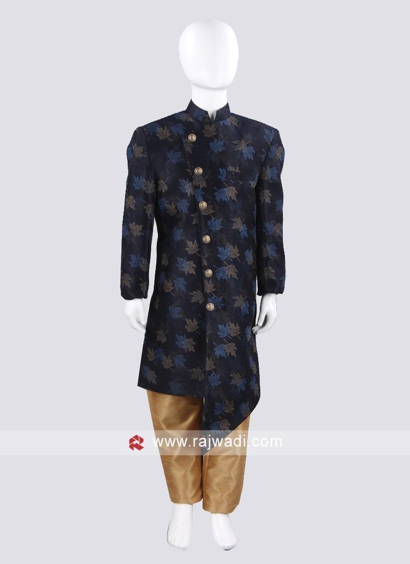 Marvelous Blue Indo Western For Boys