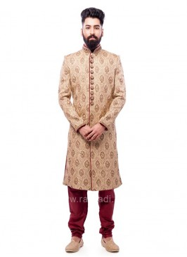 Marvelous Brocade Fabric Sherwani