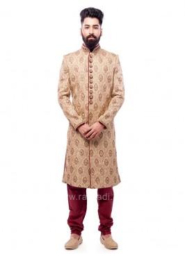 Marvelous Brocade Fabric Sherwani