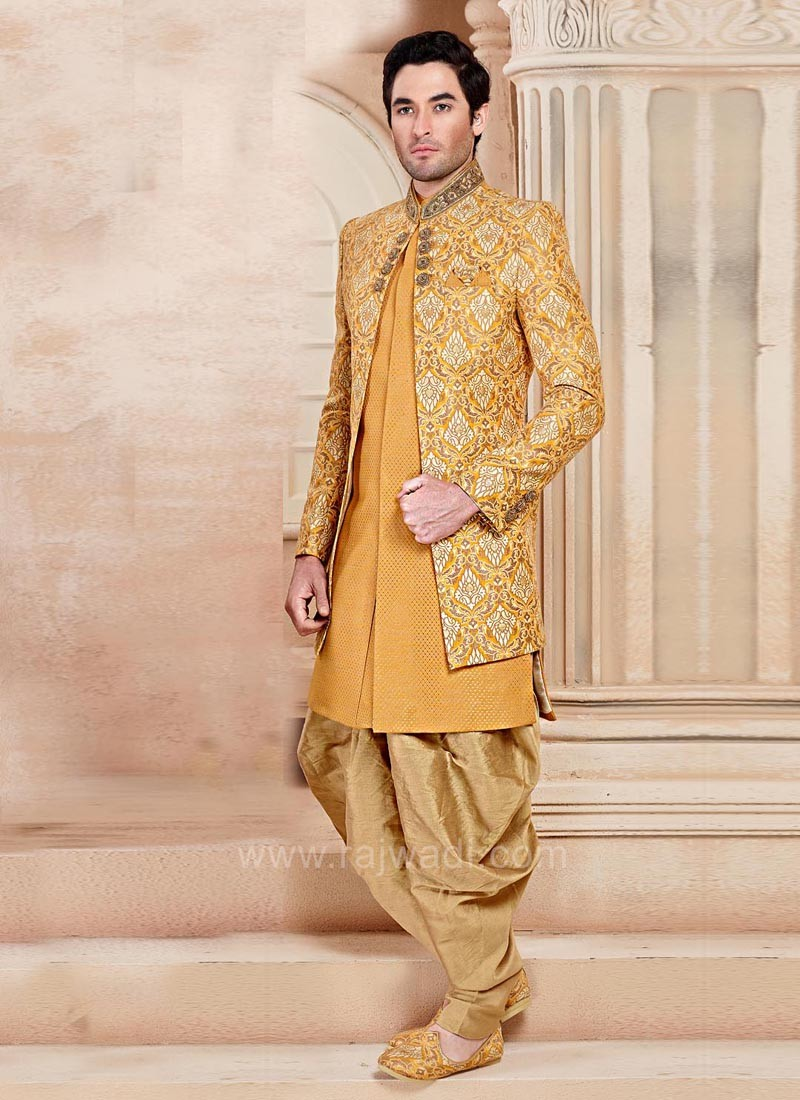 Marvelous Brocade Silk Indo Western