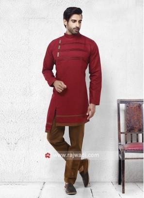 Marvelous Cotton Silk Fabric Pathani Set