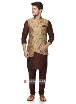 Marvelous Brocade Silk Nehru Jacket