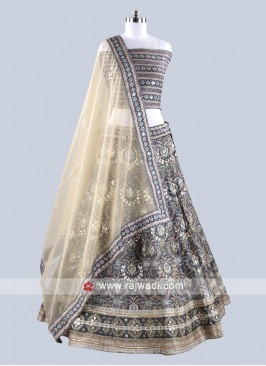 Marvelous Grey Lehenga Set For Wedding
